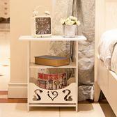 簡約床頭櫃現代客廳儲物小櫃子宿舍臥室簡易床頭邊櫃 薔薇時尚