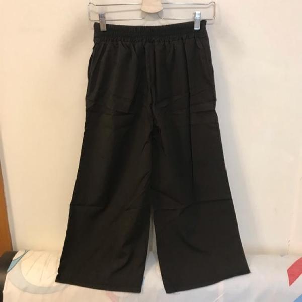 韓版百搭基本款高腰顯瘦寬褲(M號/222-6423)