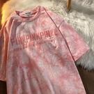 T恤 夏季刺繡短袖t恤女半袖寬鬆學生2021新款字母中性情侶裝上衣 【618特惠】