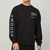 Nike NSW Swoosh Crew FT 男款 黑 刺繡 雙勾 衛衣 長袖 CU4035-010