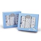 KUKU 酷咕鴨 北歐迷境森林紗布大浴巾禮盒-3件組(KU2776)(藍星森林/粉彩森林)[衛立兒生活館]