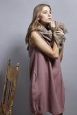 【 BEGONIA 】秋冬品牌服飾特賣~鬆緊半高領素面無袖背心裙洋裝 NO.BG72557