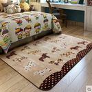 卡通地毯 可愛兒童房絲毛爬行毯 兒童地毯...
