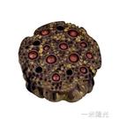 精品紫砂茶寵茶具蓮蓬擺件蓋托置壺墊變色茶桌台創意可養茶盤個性 一米陽光