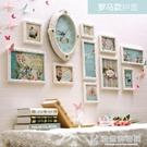 照片牆歐式裝飾畫客廳餐廳牆面裝飾掛畫帶時鐘沙發背景牆畫現代簡約壁畫 NMS快意購物網