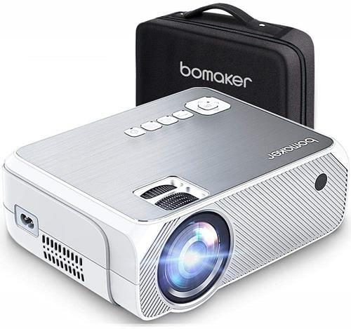 【日本代購】Bomaker 投影機 小型 3600流明 家庭影院 短焦 1080P對應  手機 對應