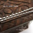 銀飾純銀項鍊 小銀磚 切面超閃亮 適合搭小墜 40cm 16吋 925純銀項鍊 KATE銀飾