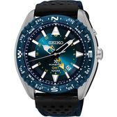 【5年保固卡】SEIKO 精工 PROSPEX GMT 菁英人動電能腕錶-藍/45mm 5M85-0AE0B(SUN059P1)