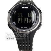 SKMEI時刻美 流行計時運動電子手錶 中性錶 男錶 學生錶 橡膠 黑色x銀 SK1219黑