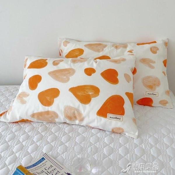 枕套 全棉純棉枕套一對裝夏季單個枕芯內膽套雙人枕頭套罩【快速出貨】