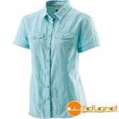 Wildland 荒野 W1203-65湖水藍 女排汗抗UV短袖襯衫