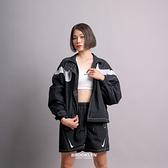 NIKE 外套 NSW 黑色 雙勾 魔鬼氈 寬鬆 短版 夾克 女(布魯克林) DD5585-010