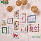照片墻 創意diy相框掛墻兒童房照片墻組合客廳裝飾磁性相框墻貼簡約時尚-三山一舍