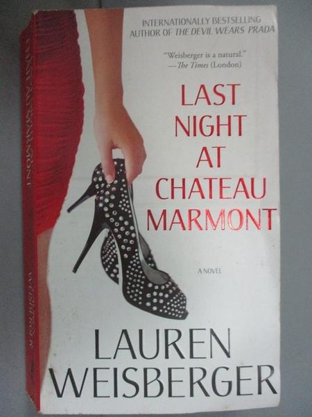 【書寶二手書T5/原文小說_NON】Last Night at Chateau Marmont_Lauren Weisb