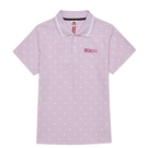 KAPPA義大利 時尚吸濕排汗女針織短袖POLO衫 粉紅 34172VWXLB