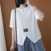 短袖T 卹寬鬆L 3XL   胖MM 寬鬆純色簡約百搭 T 恤上衣顯瘦藏肉女MB051 3