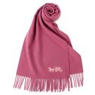 COACH經典馬車LOGO喀什米爾羊毛圍巾(玫瑰粉)190959