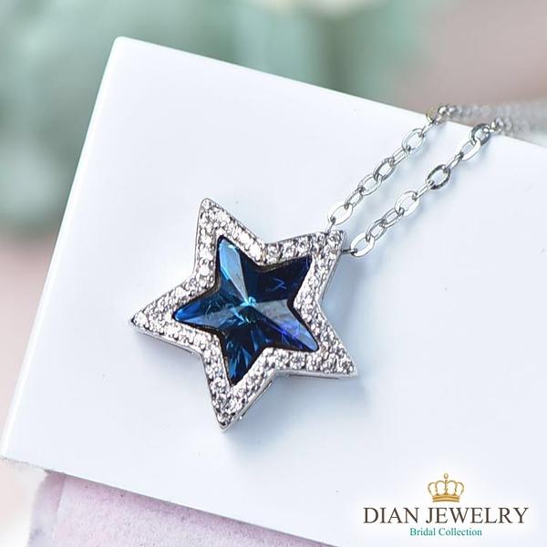 【DIAN 黛恩珠寶】耀眼星星 925純銀CZ鑽石項鍊(LYJ72678)