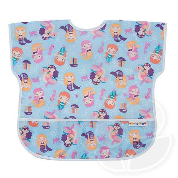 Baby City 防水短袖圍兜-紫色美人魚(1-3歲)【佳兒園婦幼館】