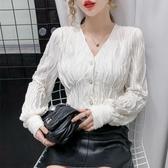 現貨寄出 網紅針織開衫女秋新款韓版外穿內搭百搭長袖v領上衣打底襯衫
