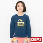 CHUMS 日本 童 Booby 長袖圓領T恤 深藍 CH211043N001