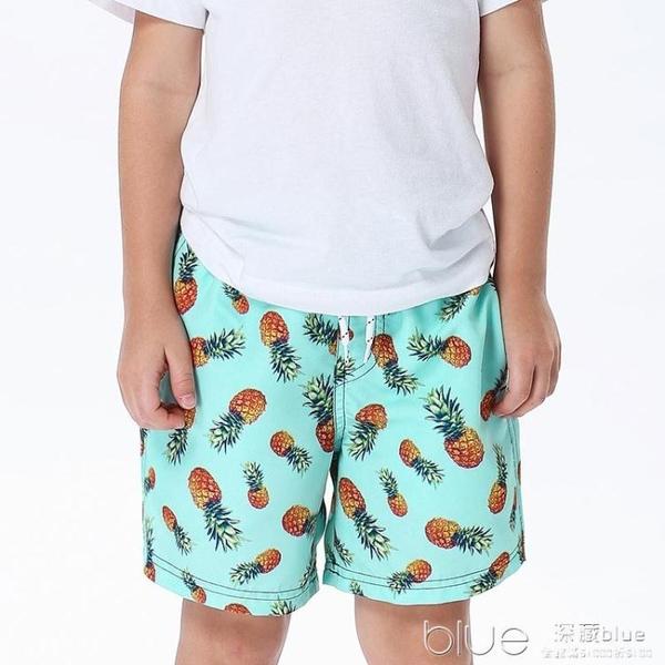 兒童沙灘褲速干可下水男童中大童溫泉泳褲小童泳衣海邊平角游泳褲 【快速出貨】