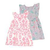 Carter s 無袖洋裝套裝 連身裙+背心裙+內褲三件組粉葉子 女寶寶【CA121I181】
