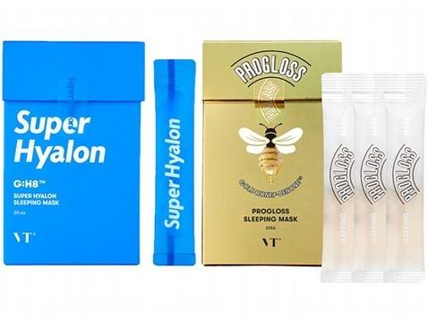 韓國 VT 黃金蜂蜜/超級玻尿酸 晚安睡眠面膜(4mlx20入)盒裝【小三美日】