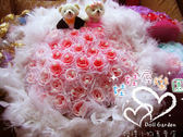 娃娃屋樂園~60枝抽取式-結婚花束小熊版-香皂(羽毛)花束 每束2400元/婚禮小物/第二次進場