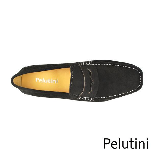 【Pelutini】基本款麂皮豆豆鞋 深棕色(9036-DBRS)
