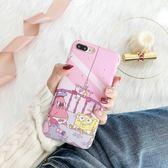 iPhoneX手機殼 可掛繩 嬰兒海綿寶寶派大星 矽膠軟殼 蘋果iPhone8X/iPhone7/6Plus