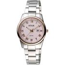 STAR 時代 羅馬風情時尚女錶-粉x玫瑰金框/32mm 1T1512-111RG-P