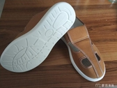 防靜電鞋加厚透氣四孔鞋軟底PU靜電鞋土黃色色帆布四孔防 麥吉良品