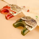 泰國大象長項鏈-紅/綠【VM47071】