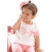 【愛的世界】彈性圓領蝴蝶結蝶舞短袖上衣/1~3歲-台灣製-  --春夏上著 夏出清