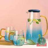 家用耐高溫大容量涼水杯耐熱玻璃冷水壺涼水壺【福喜行】