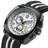 印第賽車限量陶瓷計時皮帶腕錶-白xPVD黑/44mm LUMINOX 雷明時 ×Tony Kanaan