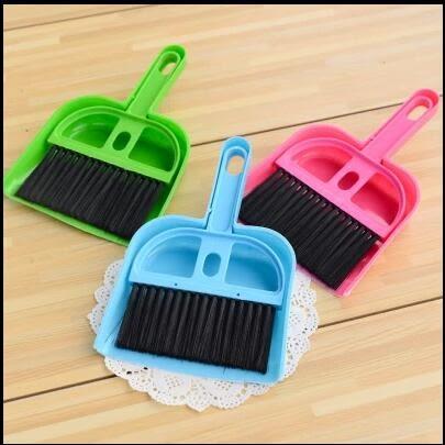 【TT425】塑膠簸箕迷你小撮子掃把套裝 家用手持搓子垃圾鏟撮箕掃帚