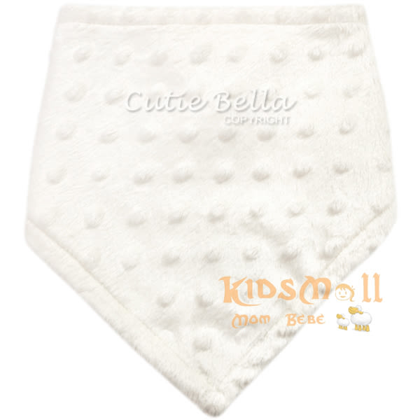Cutie Bella豆豆領巾圍兜Cream