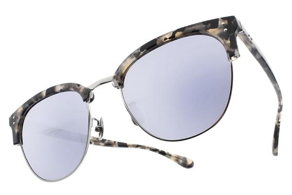 NINE ACCORD 水銀太陽眼鏡 CARDINAL-CS C05 (白琥珀銀-淺藍水銀) 韓系眉框款 # 金橘眼鏡