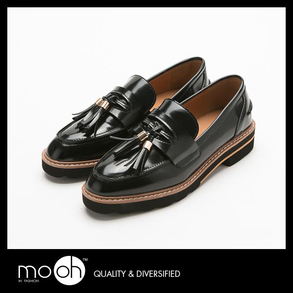 紳士鞋 牛津鞋 樂福鞋  歐美英倫學院風流蘇粗低跟皮鞋  mo.oh (歐美鞋款)