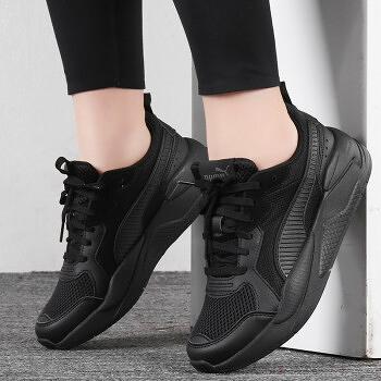 R-PUMA X-RAY 全黑 皮革 網布 復古 休閒鞋 男女 運動 舒適 372602-01