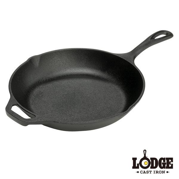 【美國Lodge】鑄鐵主廚弧形平煎鍋10吋/25公分