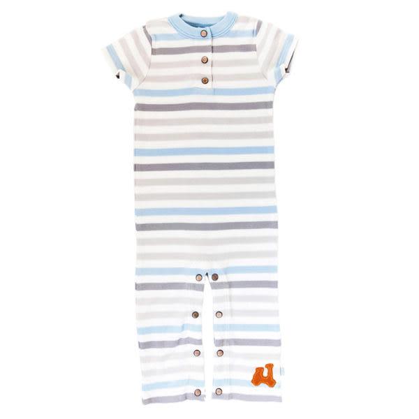 有機棉 包屁衣 哈衣 連身衣 美國 Finn + Emma - 短袖連腳裝 Stripe 款 B01-0100B