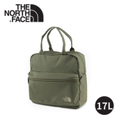 【The North Face METRO TOTE耐磨帆布多功能背提包17L《綠》】3RHR/手提包/旅行袋