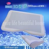 御芙專櫃MDI【3D型涼感記憶枕】55*35CM/適合喜歡睡低枕推薦/瞬間3秒冰涼感動