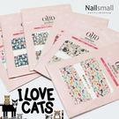 日式超薄水轉印貼紙 可愛貓咪 超薄貼紙 日本流行 水晶 美甲 材料