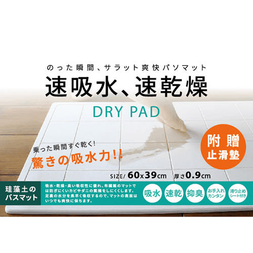 日式珪藻土吸水踏墊(39*60cm)【愛買】