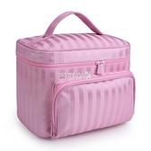牛津布化妝包防水大容量便攜洗漱包旅行化妝品收納包手提化妝袋潮 快速出貨