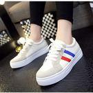 新款條紋休閒鞋厚底鞋運動鞋女鞋...3色...